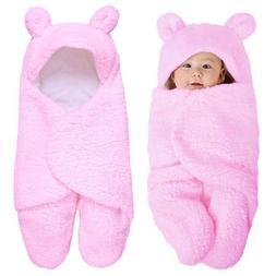 0-12M Newborn Baby Blanket Swaddle Wrap Winter Cotton Plush