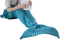 Happy Cherry 0-2Y Baby Mermaid Tail Blanket All Seasons Knit