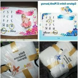 1 Baby Milestone Blanket - Monthly Photography Photo. You pi