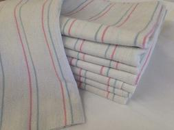 1 new stripe baby receiving swaddling hospital blanket large