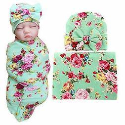 1 Pack BQUBO Newborn Floral Receiving Blankets Baby Swaddlin