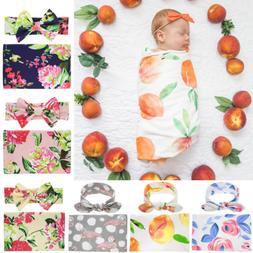 1 Set Newborn Swaddle Blanket Baby Boys Girls Sleeping Bag W