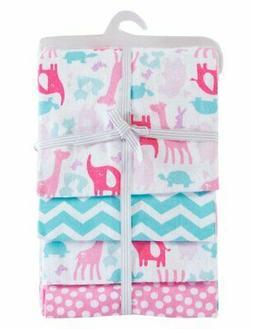 "PHF 100% Cotton Flannel Receiving Blankets Warm Unisex 30""x4"