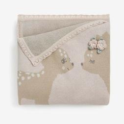 Elegant Baby 100% Cotton Knit Fawn Baby Blanket BNWT Adorabl