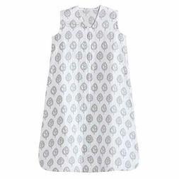 Halo 100% Cotton Muslin Sleepsack Wearable Blanket, Grey Tre