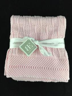 Elegant Baby 100% Cotton Sweater Knit Blanket, Fancy Texture