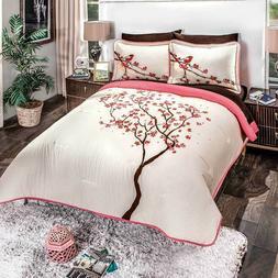 100% Cotton The Nightingale Comforter Reversible Sheet Set N