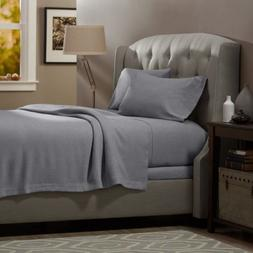 100% Egyptian Cotton Deep Pocket Flannel 4 Piece Bed Sheet S