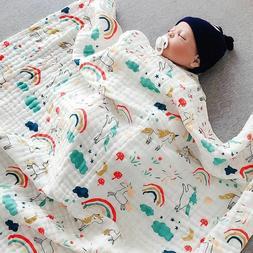 100% Muslin Cotton Newborn Infant Swaddle Baby Soft Blanket