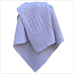100% Pure Virgin Wool Baby Blanket Violet