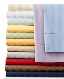 1000 Count 100 Percent Egyptian Cotton Striped Sheet Set All