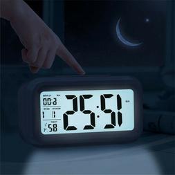 USA LCD Digital Clock Battery Operated Snooze Electronic Ala