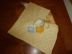 "11""  lovey BABY BLANKET plush security elegant baby minky do"