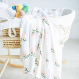 120*120cm Cotton Baby Blanket Breathable Muslin Wrap Bamboo