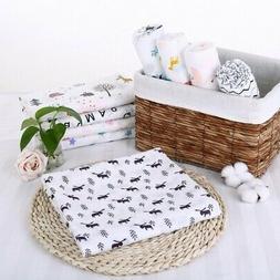 120x120cm Muslin Newborn Baby Blanket Bedding Wrap Swaddle B