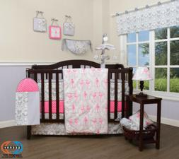 13PCS Flamingo Bird Baby Nursery Crib Bedding Sets  Holiday