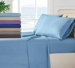Egyptian Comfort 1800 Thread Count Bed Sheet Set - 4 Piece D