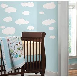 19 New WHITE CLOUDS WALL DECALS Baby Nursery Sky Stickers Ki