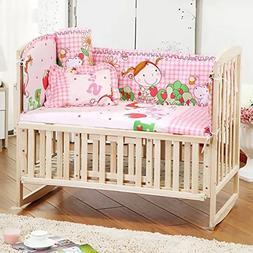 5 Pcs / 1set Baby Kids Nursery Bedroom Bedding Range Cot Qui