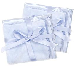 2 Blue Security Blankets, Baby Blankie Small Mini Blanket, 1