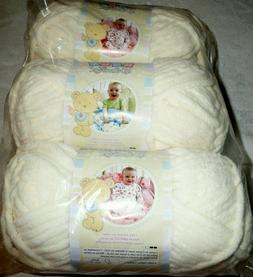 Discontinued BERNAT Baby Blanket VANILLA Spinrite~Off-White