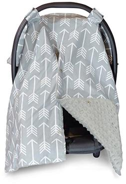 2 in 1 Carseat Canopy and Nursing Cover Up with Peekaboo Ope