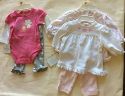 2 Newborn Baby Girl Outfits NWT Carters Great Gift!