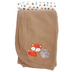 Koala Baby 4 Pack Flannel Receiving Blankets Grey Fox