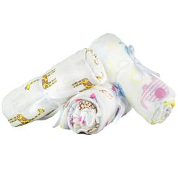 2 Pcs Set Newborn Swaddle Blankets Cotton Crib Bed Baby Boy