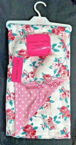 """Betsey Johnson 2-Piece Baby Blanket 30x36"""" with Support Pill"""