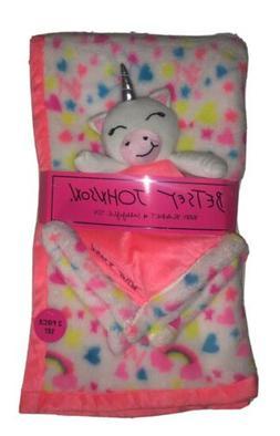Betsey Johnson 2-Piece Baby Blanket and Snuggle Unicorn Toy