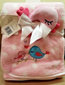 Baby Gear 2 Piece Bird Ultra Plush Nursery Blanket Set 30X36