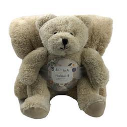 Silver One 2 Piece Gift Set Plush Teddy Bear Animal & Blanke