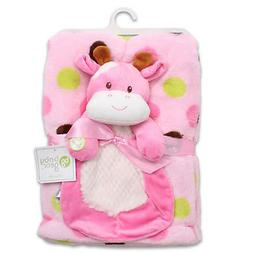 Baby Gear 2-Piece Plush Blanket Set Travel Security Squeaky