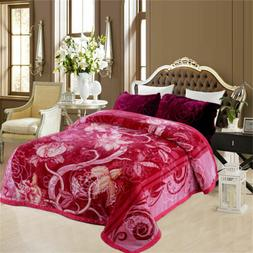 2 Ply Pink Crafted Crystal Velvet Plush Mink King Size Blank
