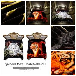 2 Ply Tiger Crafted Crystal Velvet Plush Mink King Size Blan