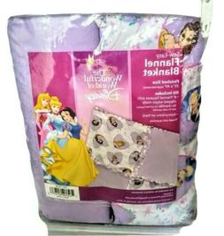 2005 Sew Easy Disney Snow White Cinderella  Flannel Blanket