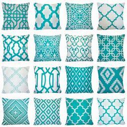 "20x20"" Soft Velvet Turquoise Blue Throw PILLOW COVER Sofa Co"