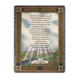 23Rd Psalm Throw - Blankets & Throws - Religious & Ceremonia