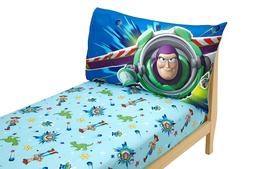 2Pack Sheets Pillowcases Fitted Sheet Toy Story Toddler Bedd