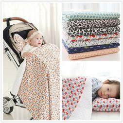 2PCS Baby Pillow Blanket/Crib Quilt Soft Minky Double Dotted