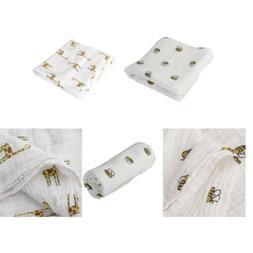 2Pcs Kid Gauze Cotton Swaddle Blanket Baby Sleeping Swaddle