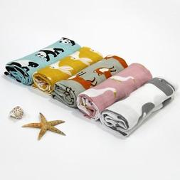 2Pcs Muslin Cotton Baby Swaddle blanket