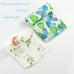 2pcs Muslin Swaddle Blankets Fox Infant Receiving Blanket So