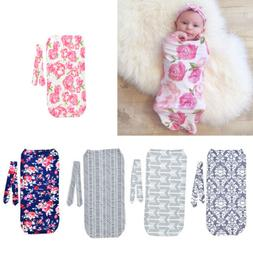 2Pcs/Set Newborn Swaddle Blanket Baby Cocoon Sleeping Bag Mu