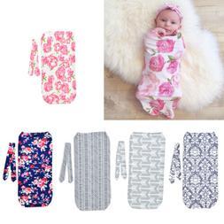2Pcs/Set Newborn Swaddle Blanket Baby Cocoon Sleeping Bag Mu