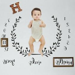 Baby Milestone Blanket Organic Cotton Muslin - Monthly Newbo
