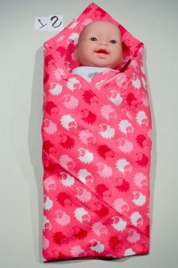 3 Handmade Baby Blanket Lot Girl Boy Gender Neutral Receivin