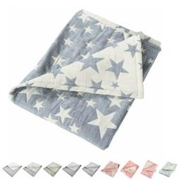 3 Layer Toddler Blanket Cotton Lightweight Thermal Baby Bed