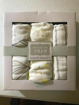 Hudson Baby 3-Pack Swaddle Blankets